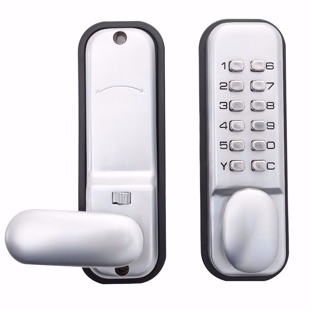 12 code keypad digital keyless security passcode electronic mechanical door lock ebay. Black Bedroom Furniture Sets. Home Design Ideas