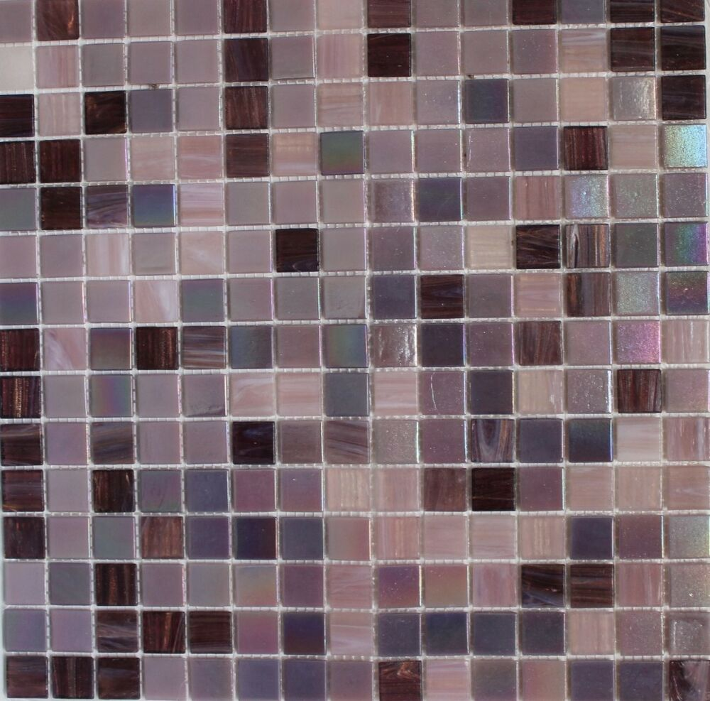 Sweet Purple Iridescent Glass Tile Mosaic Tiles Kitchen - Purple-mosaic-bathroom-tiles