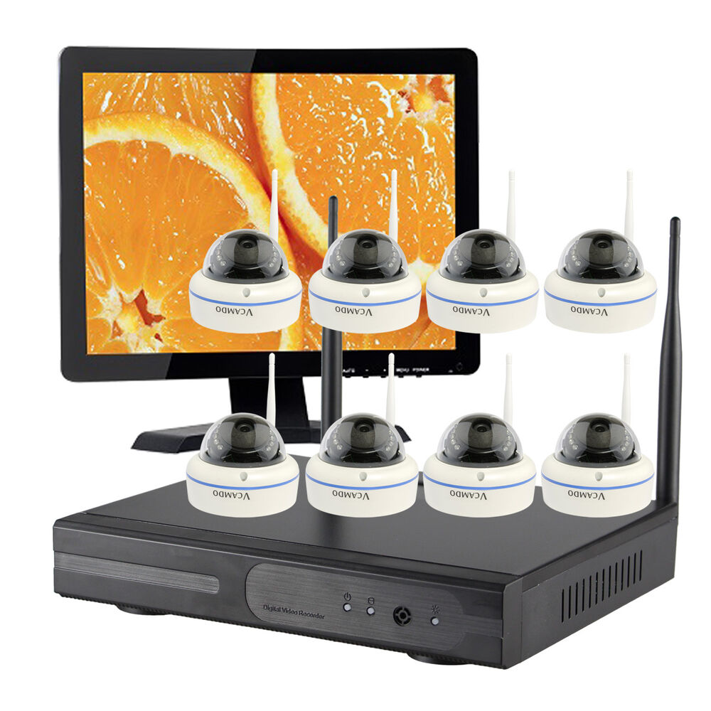 8CH Home CCTV wireless security camera system with Hard Drive and HDMI Monitor | eBay