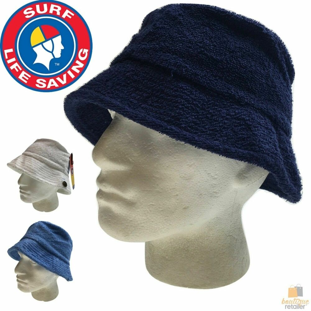 Details about SURF LIFE SAVING AUSTRALIA Terry Towelling Hat 100% Cotton  Fishing Camping 7008 469edb8a765