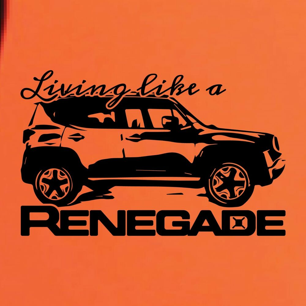 Living Like A Jeep Renegade Logo Graphic Vinyl Decal