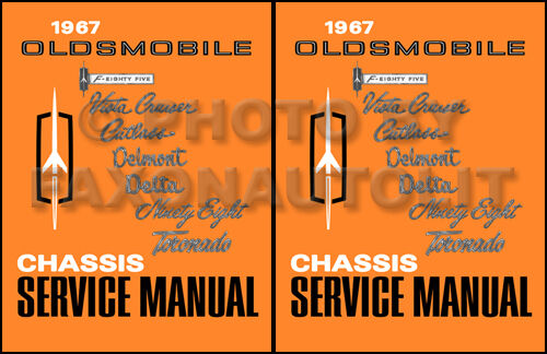 1967 Olds Shop Manual 442 Supreme Cutlass F85 88 98 Delta