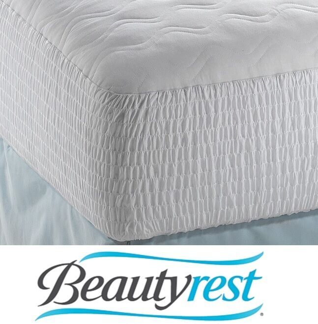 beautyrest polyester cotton top mattress pad cal king protector cover bed sleep ebay. Black Bedroom Furniture Sets. Home Design Ideas