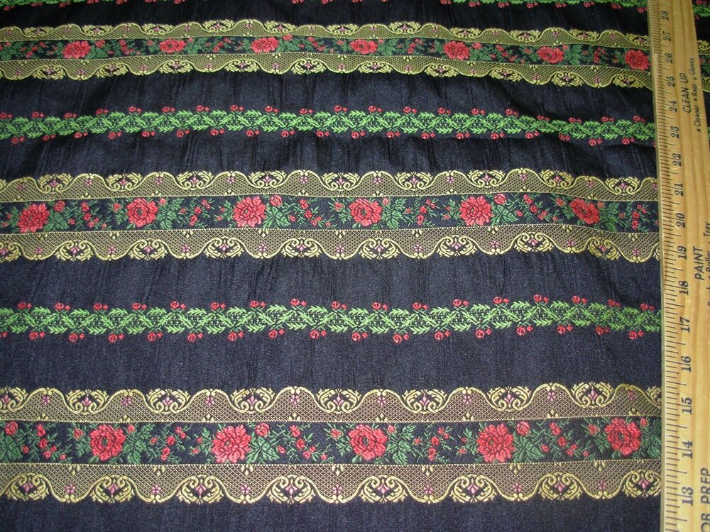 Bty quot bohemian floral embroidered upholstery fabric for