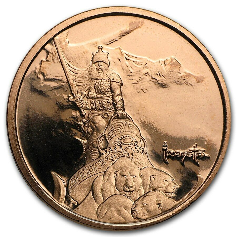 Silver Warrior 1 Oz 999 Copper Bu Round Usa Made American