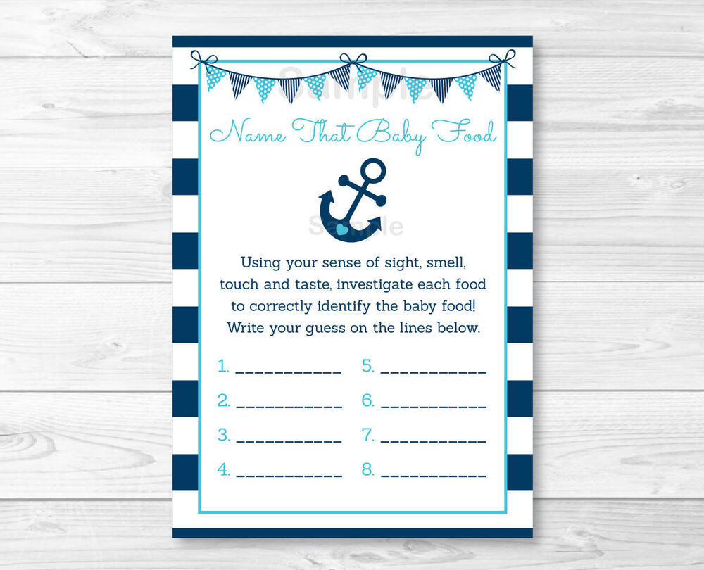 Nautical Anchor Name That Baby Food Baby Shower Game ...