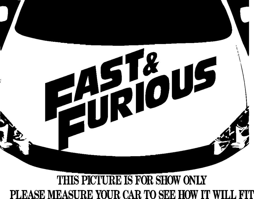 Fast And Furious Logo Decal Vinyl Graphic Hood For Car