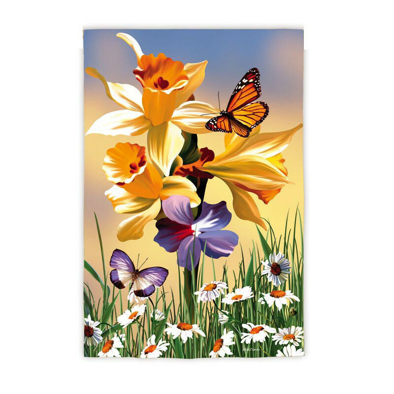 Daffodil Delight Spring Flowers Butterflies Daisies 12 5 X18 Small
