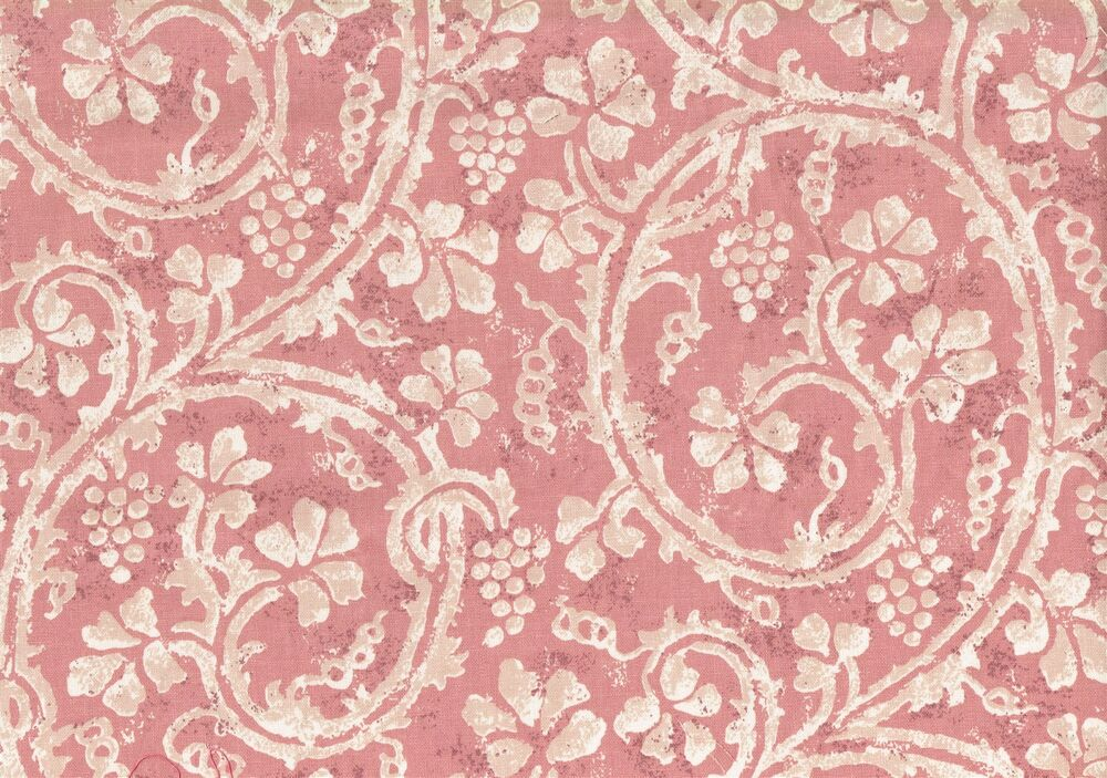 Pkaufmann fabric rose off white scroll floral cotton for Floral upholstery fabric