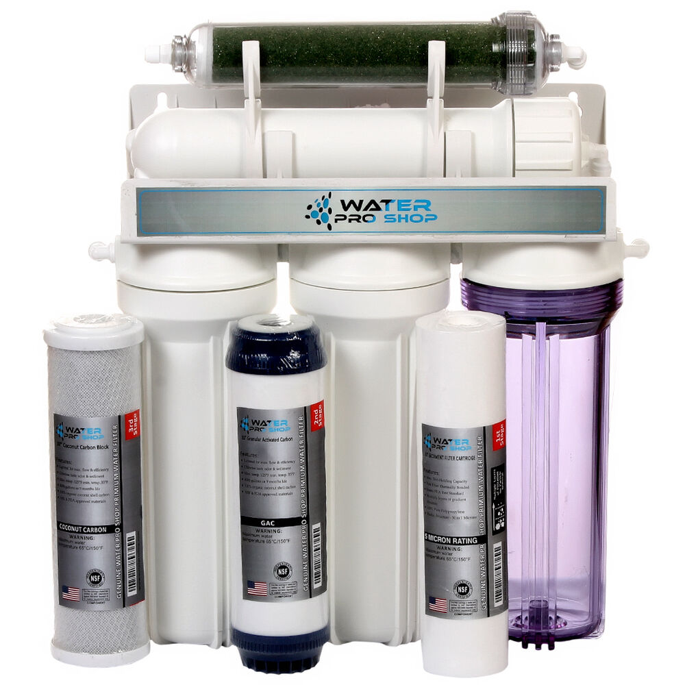 5 stage aquarium reef reverse osmosis ro di water filter for Fish filter system