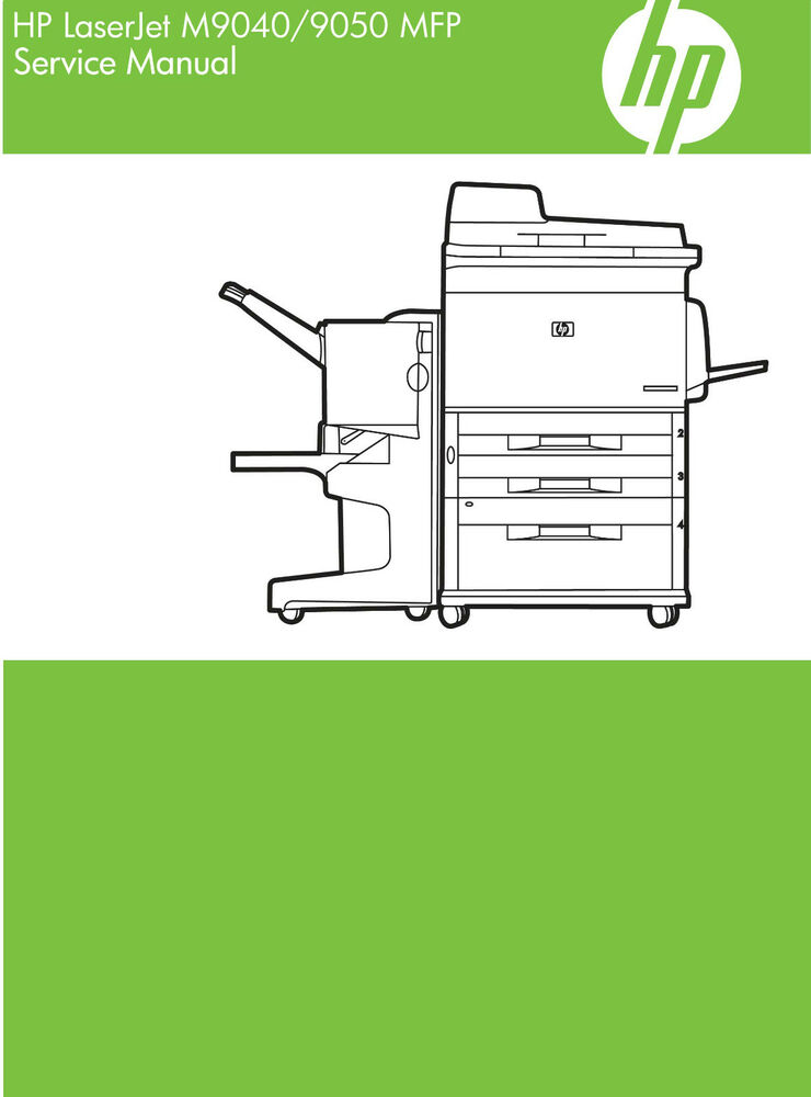 hp laserjet m9040 m9050 mfp service manual contains parts and rh ebay com hp lj 9050 mfp service manual hp laserjet 9050 mfp user manual