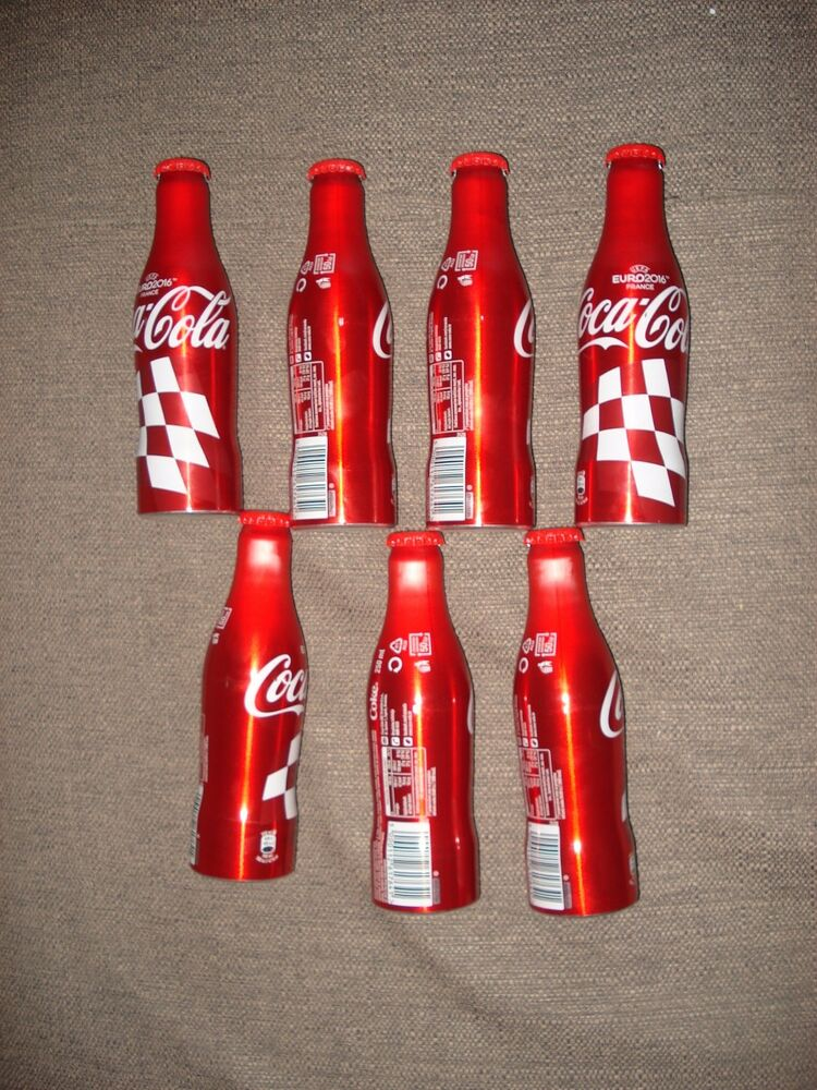 croatia soccer france 2016 euro coca cola aluminium bottle empty whit cap ebay. Black Bedroom Furniture Sets. Home Design Ideas