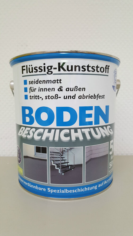 bodenbeschichtung fl ssig kunststoff beton innen au en betonfarbe bodenfarbe ebay. Black Bedroom Furniture Sets. Home Design Ideas