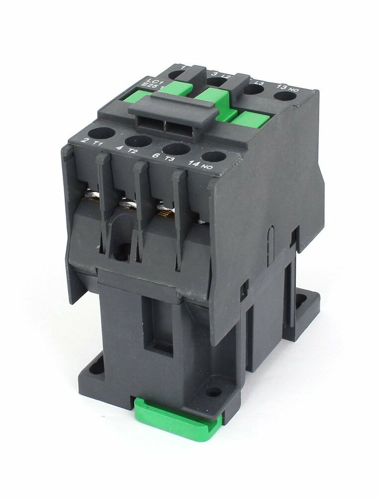 Ac contactor motor starter relay 3 phase pole 1no 220v for Three phase motor starter