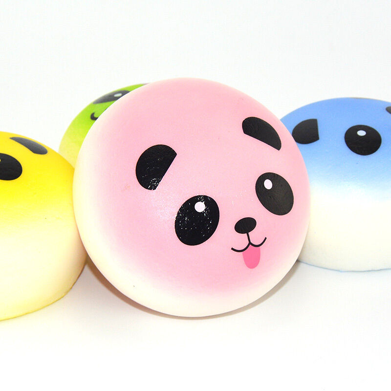 Squishy Jumbo Panda 10 Cm : New 10cm Squishy Colorful Jumbo Panda Bun Bow Tongue 1 Random Slow Rising Bread eBay
