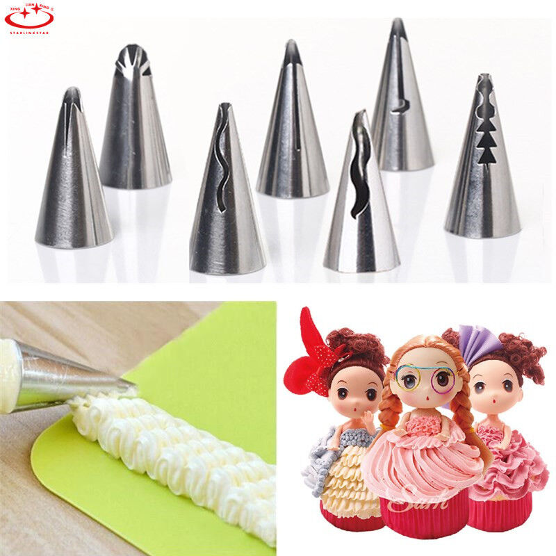 7pcs Russian Icing Piping Nozzles Pastry Tips Cake