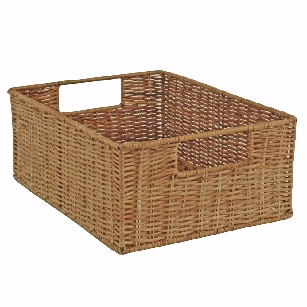 kitchen baskets storage wicker storage basket rattan drawer basket fern 2294