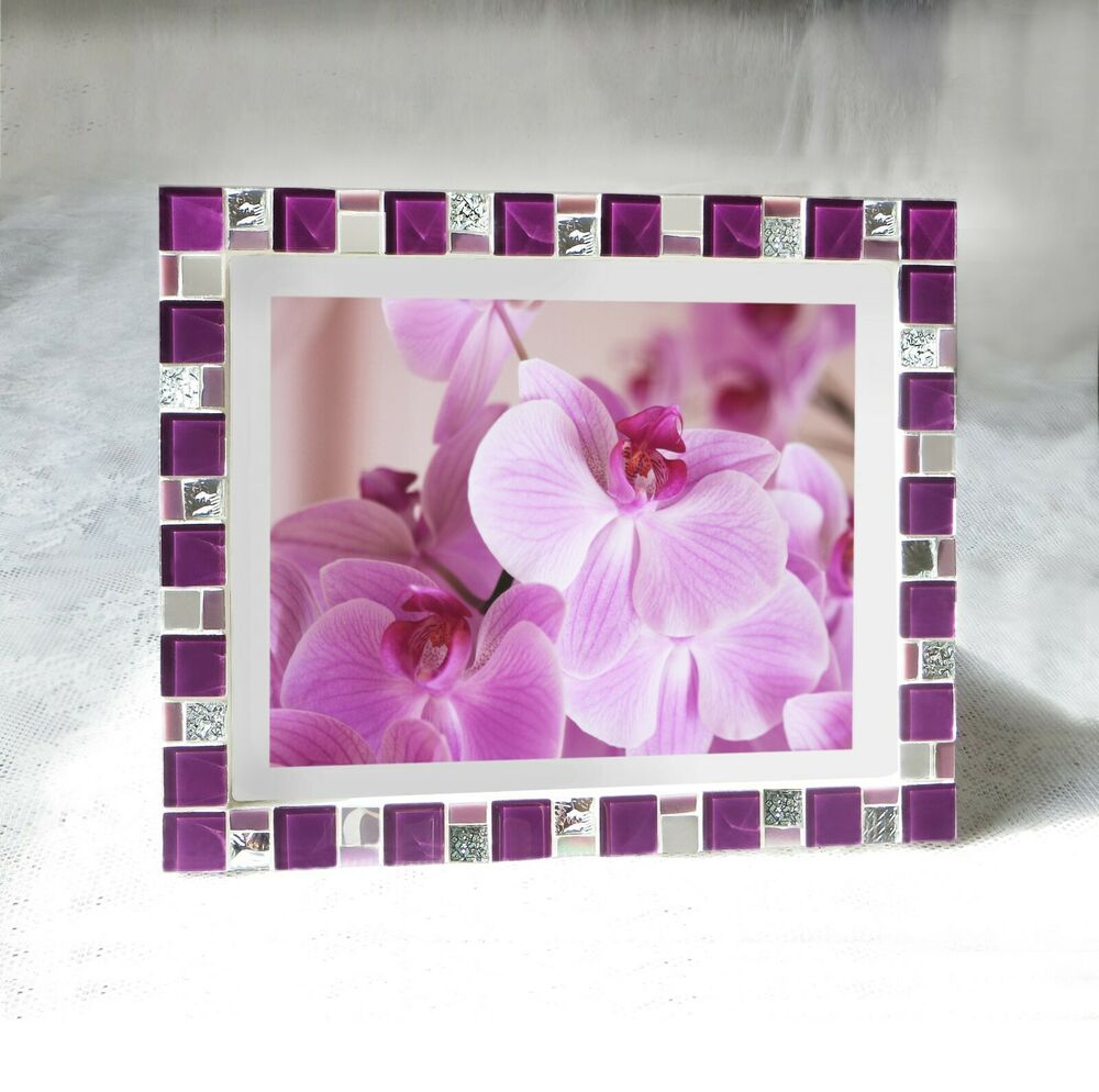 Mosaic Photo Frame 8x10 Frame Purple Frame Picture