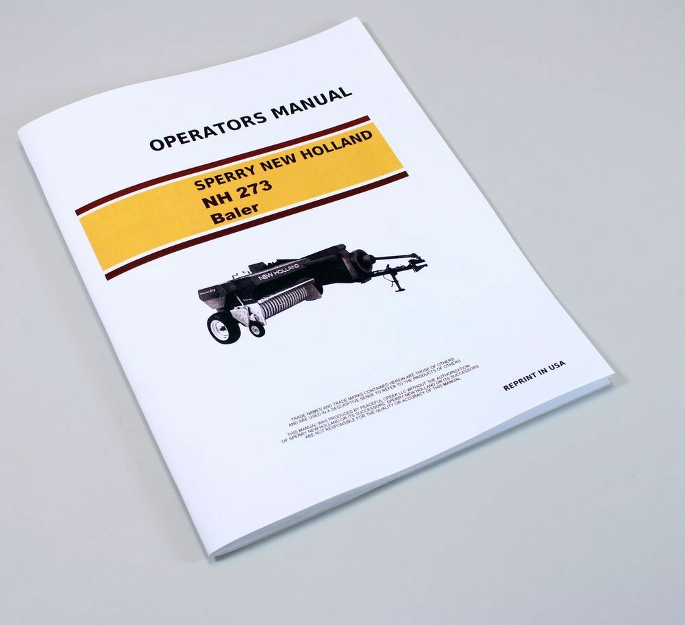 SPERRY NEW HOLLAND HAYLINER 273 SQUARE BALER OWNERS OPERATORS MANUAL  SERVICE | eBay