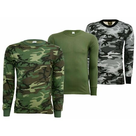 img-Original US Long Sleeve Tactical Military Army T-Shirt in Olive or Camouflage