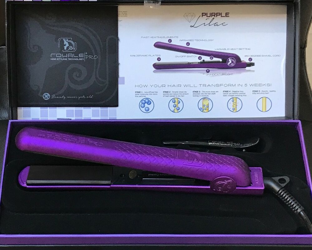Royale Classic Deep Purple Diamond Ceramic Flat Iron Hair