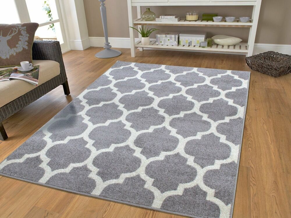 New gray rugs moroccan trellis area rugs grey carpet 5 x 7 for Area carpets and rugs