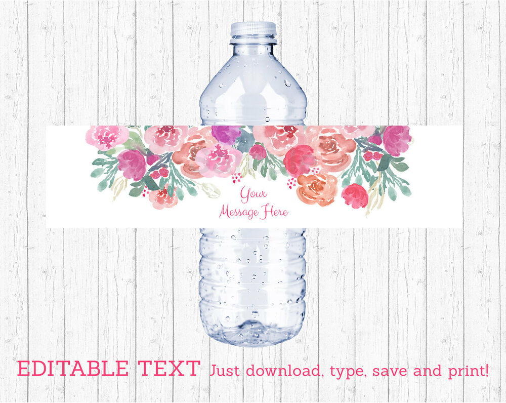 Hilaire image with water bottle labels printable
