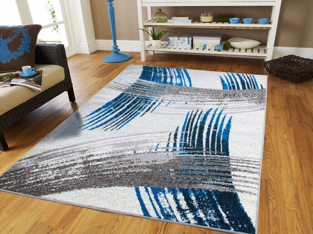 Luxury Modern Rugs 8x11 Large Rugs 8x10 Blue Carpet 5x8