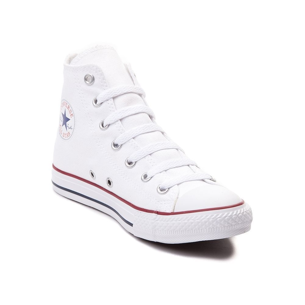 34e7c60ce0f5 Details about Converse Chuck Taylor ALL Star Hi Top White Youth Kids Boy  Girl Size 11-3 New