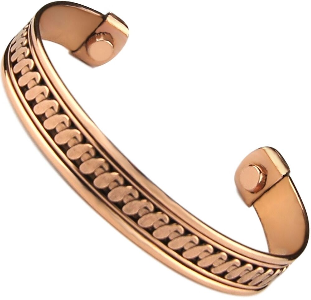 "Cuff Bangle Bracelet: Brand New Pure Copper Bracelet With Magnets ""Therapy"" Cuff"