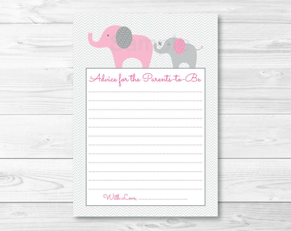 It is a picture of Shocking Free Printable Advice Cards for Baby Shower