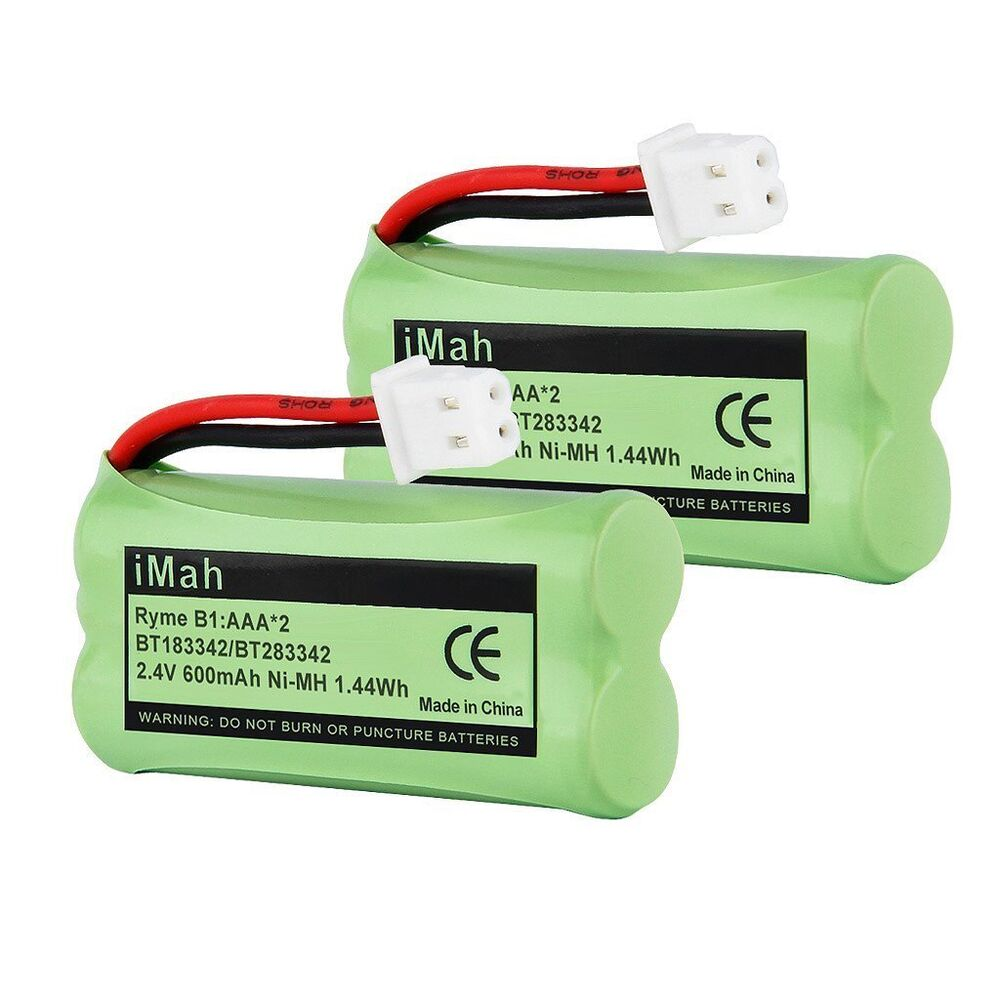 2 pack replacement rechargeable battery bt18433 bt28433 for vtech att phones ebay. Black Bedroom Furniture Sets. Home Design Ideas