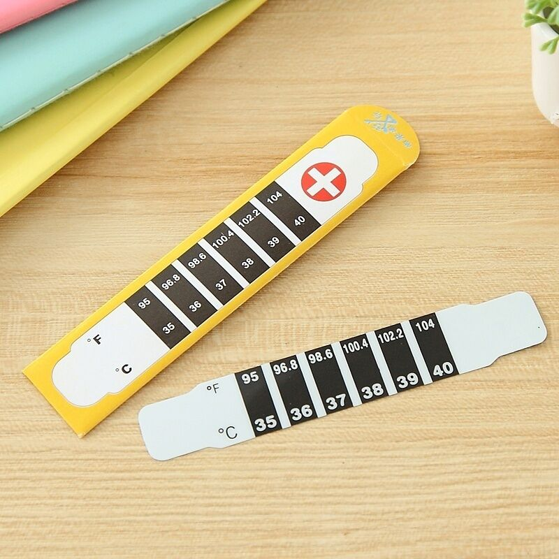 Hot Baby Kids Forehead Strip Head Thermometer Fever Body ...