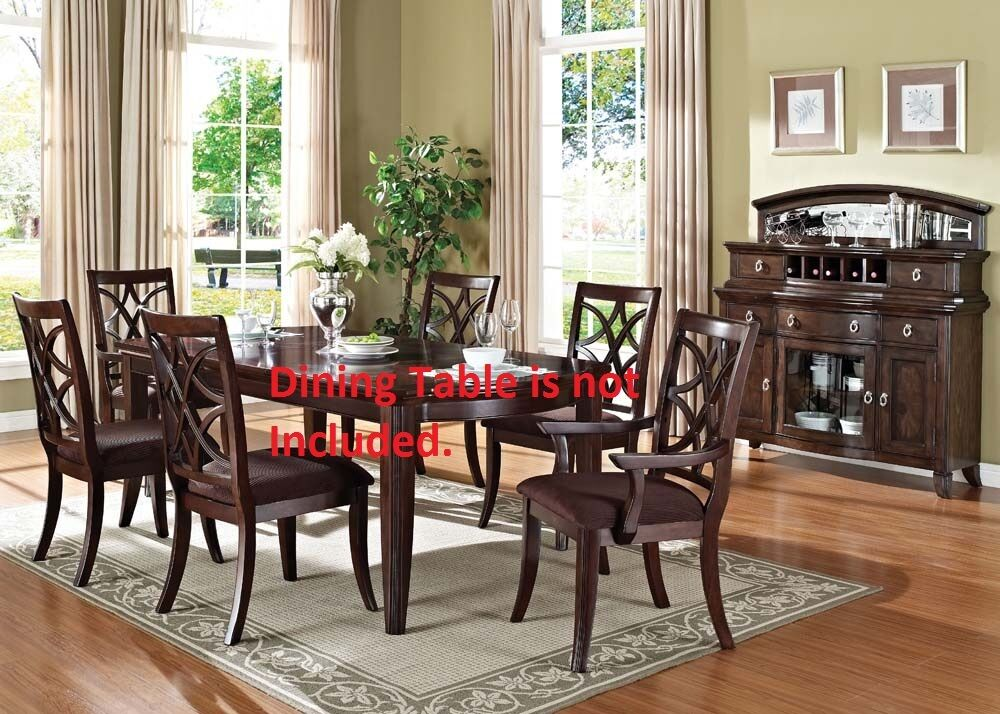Antique framed traditional dining chairs walnut finish for Classic dining tables and chairs