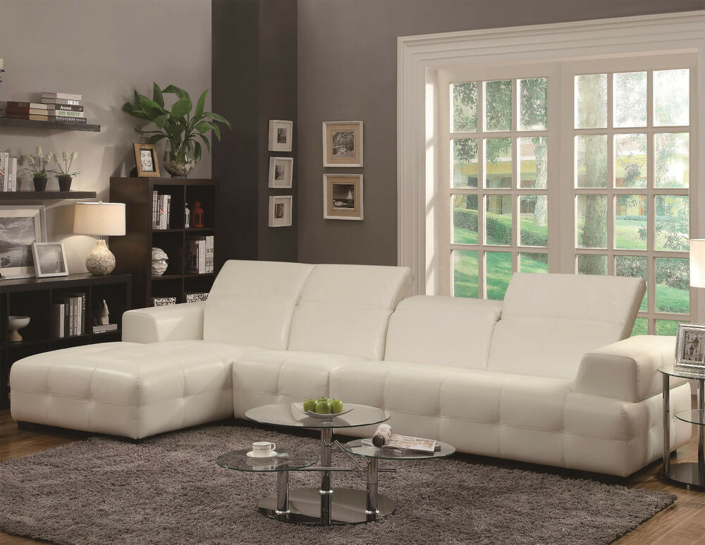 Darby Contemporary Sectional Sofa W Wide Chaise