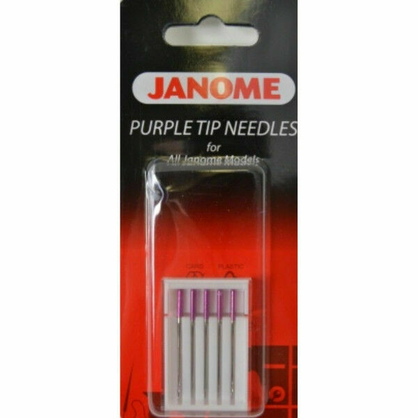 Janome Sewing Machine Purple Tip Needle 5 Count New | eBay