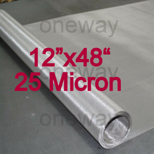 12 Quot X48 Quot Roll 25 Micron Stainless Steel 316 Ss Mesh