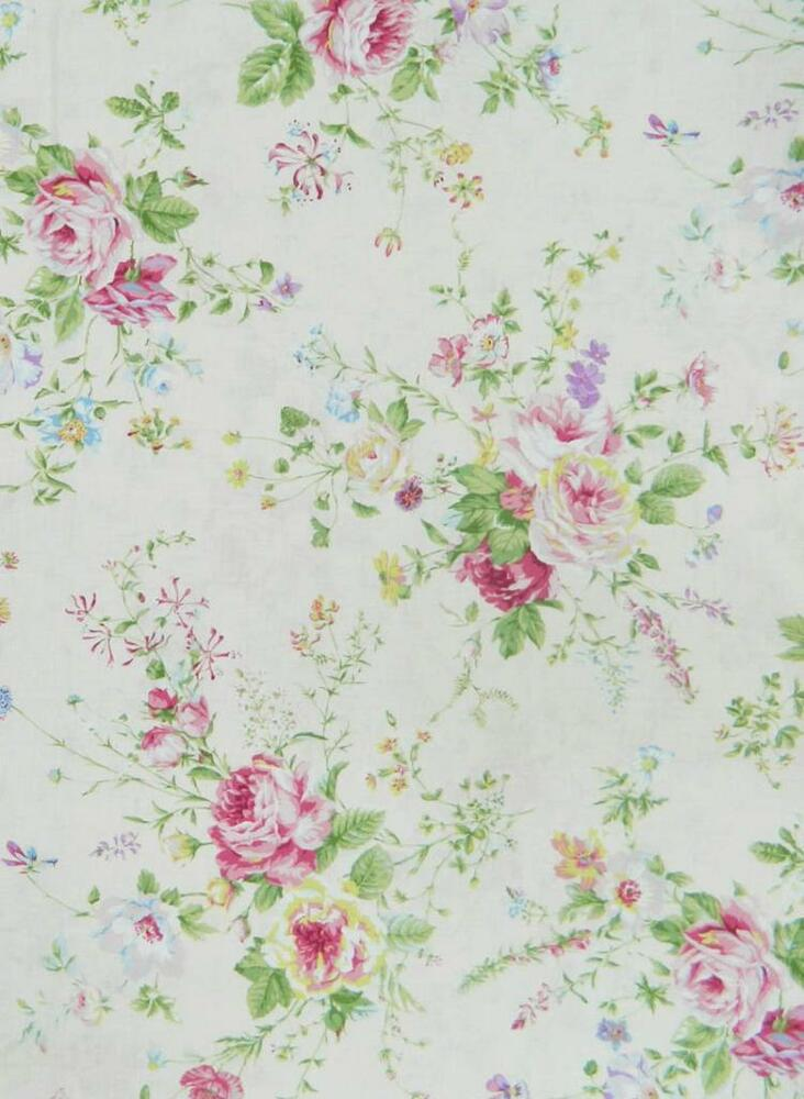 Patchwork quilting fabric floral collection sewing for Cotton sewing material