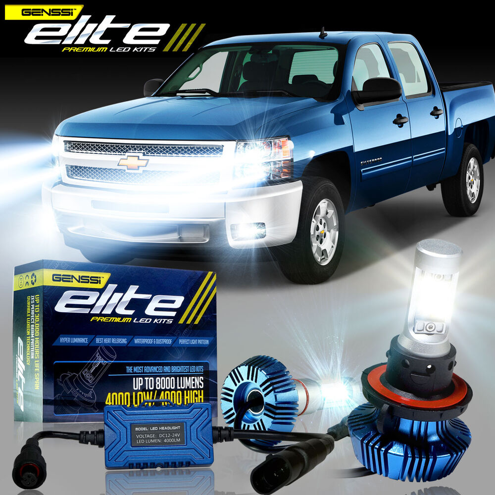 Cree Led Headlight Kit H11 9005 Silverado 1500 2500 Fog