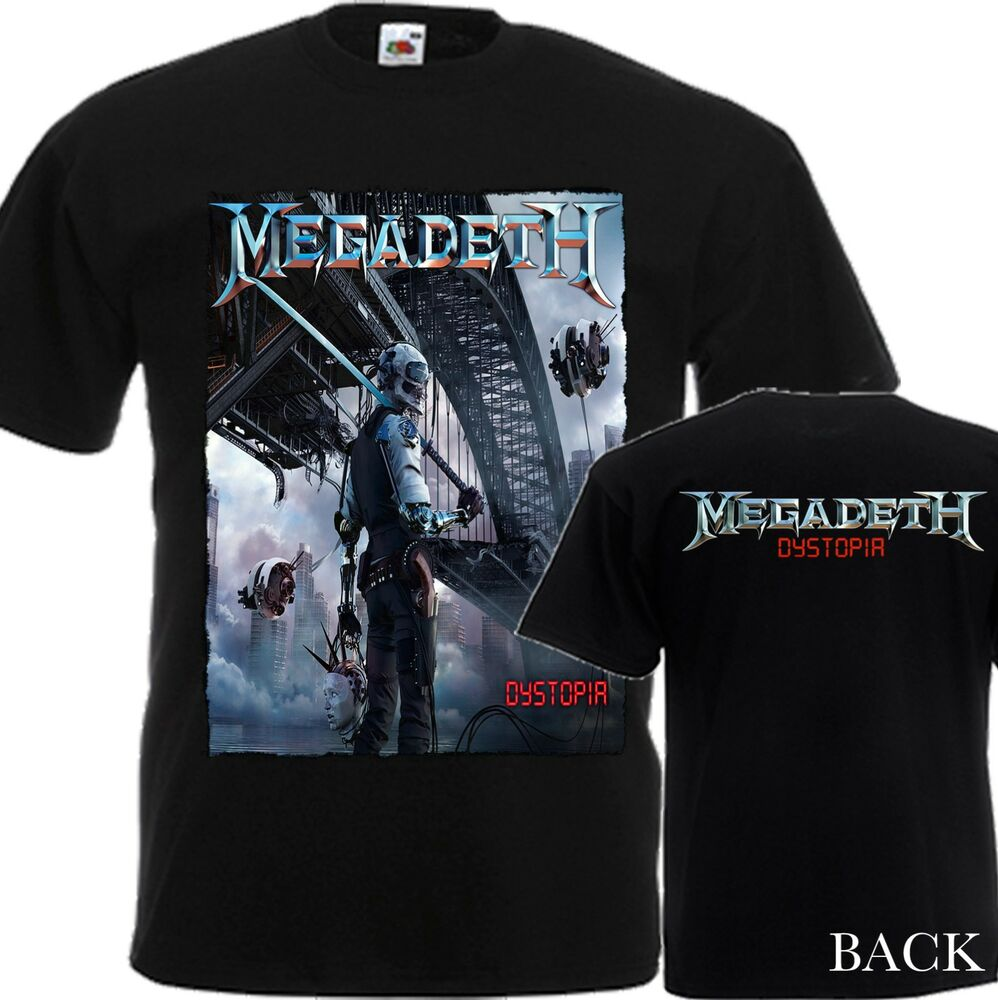new t shirt 39 39 dystopia by thrash metal band megadeth 39 39 dtg printed tee s 6xl ebay. Black Bedroom Furniture Sets. Home Design Ideas