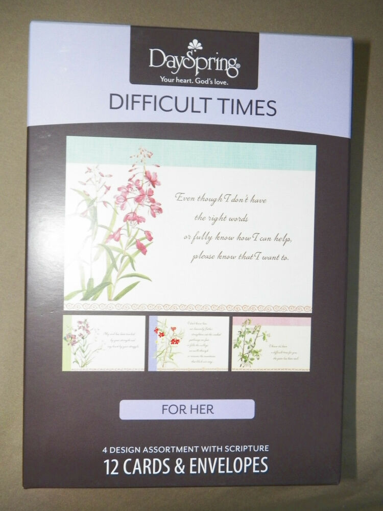 box 12  u0026quot difficult times u0026quot  christian greeting cards with