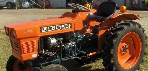 Kubota L185 Parts : Kubota l hood decal set ebay