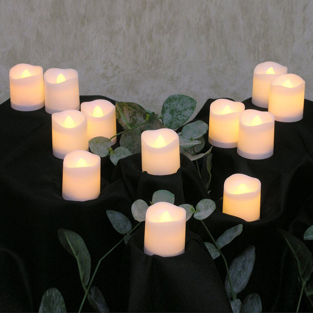24pcs Flameless Votive Candles Battery Operated Led