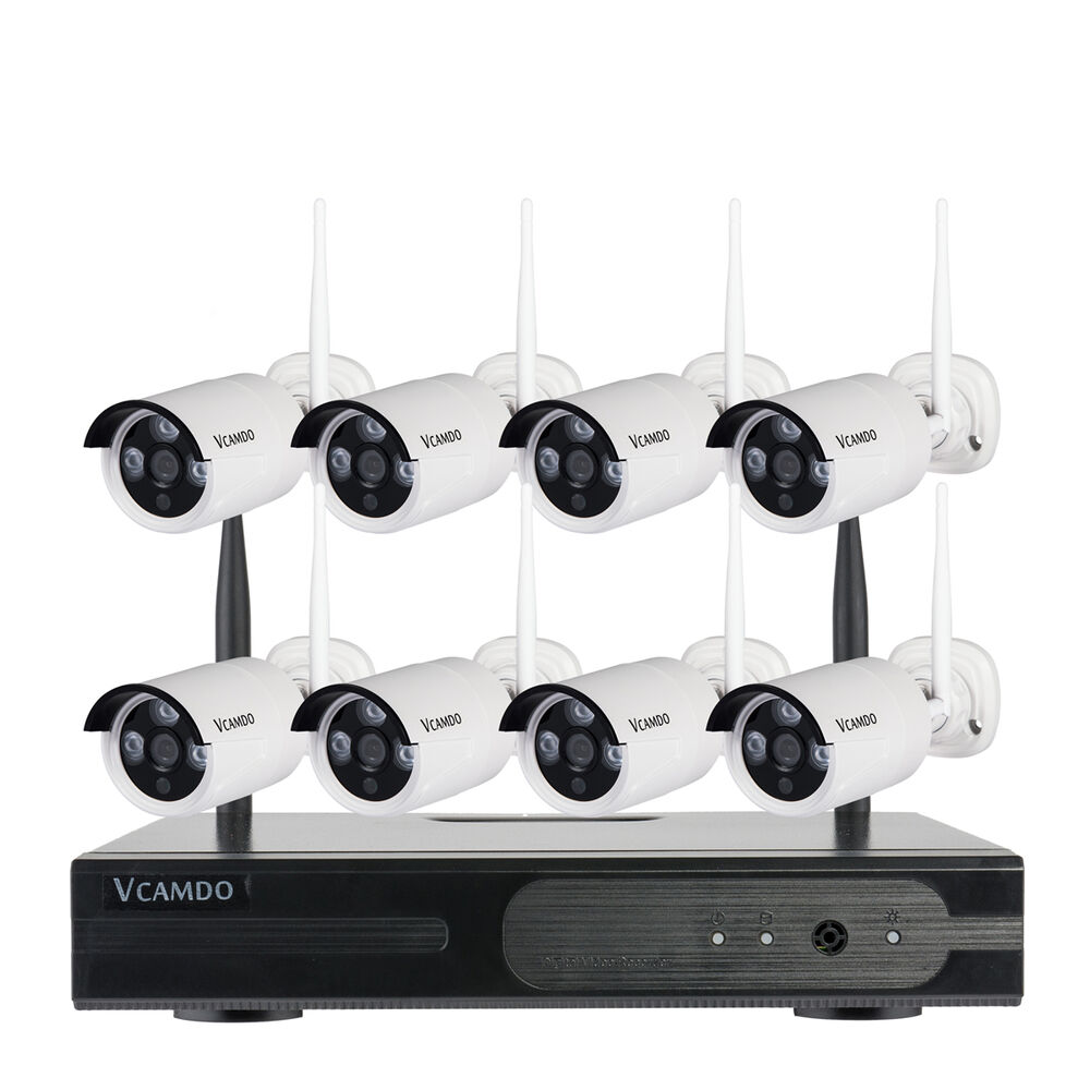 8CH Outdoor Home CCTV System Wireless Surveillance Security Cameras Waterproof | eBay