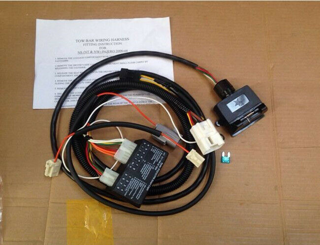 Wiring Harness For Triton Trailer : Unt towbar trailer wiring harness loom for mitsubishi