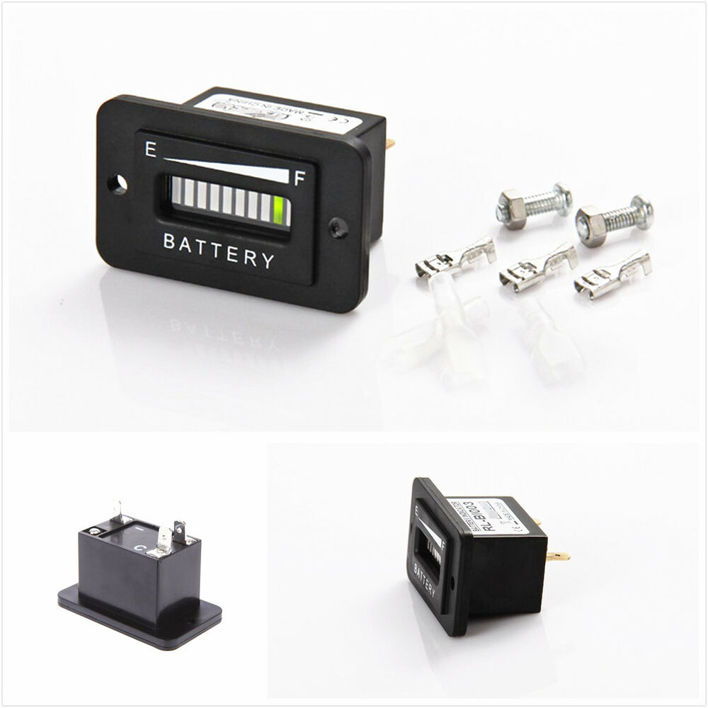 Car Battery Gauge : Waterproof v led abs car truck battery charge discharge
