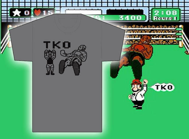 Mike tyson punch out 8 bit tko nes shirt nintendo iron for What is a punch out list