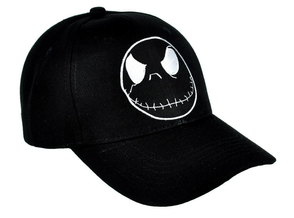 2a92bd47d3fe8 Details about Negative Jack Skellington Hat Baseball Cap Nightmare Before  Christmas Halloween