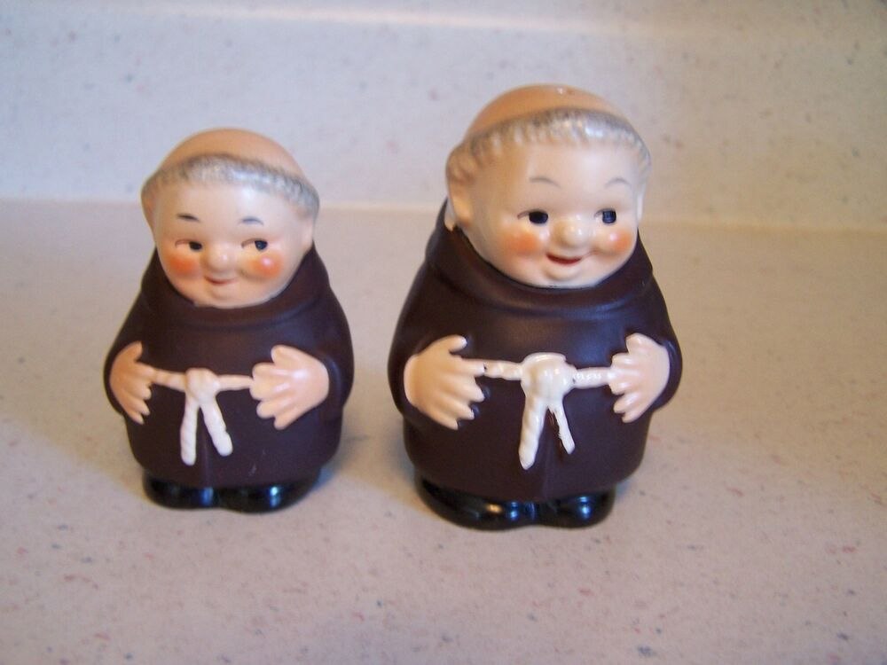 Beautiful Goebel Monks West Germany Salt And Pepper