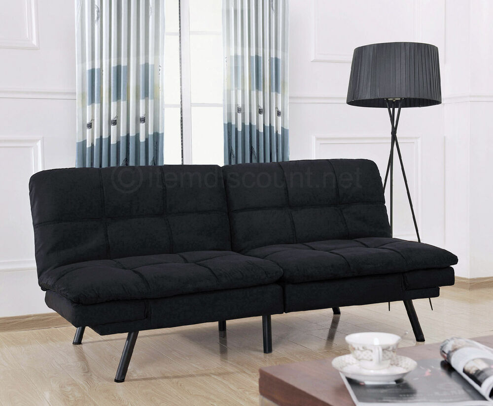 Memory Foam Split Futon Folding Couch Sofa Adjustable Arm